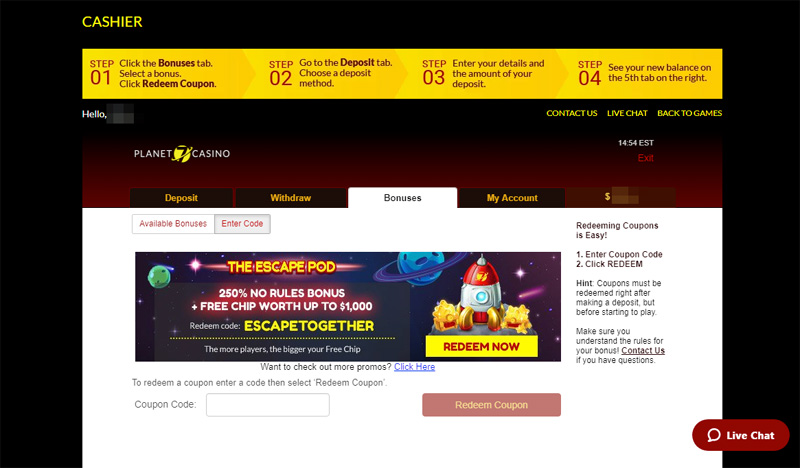 Planet 7 Casino No Deposit Bonus Aug 2020