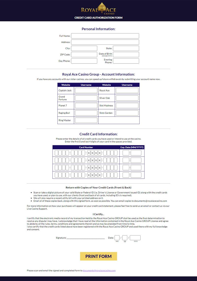 Royal Ace Casino No Deposit Bonus Codes November 2016