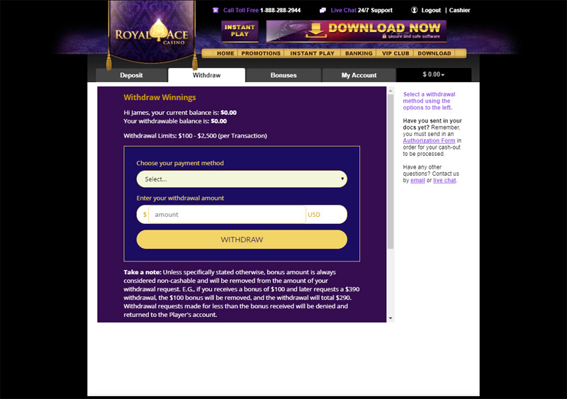 Exclusive Royal Ace Casino No Deposit Bonus Codes