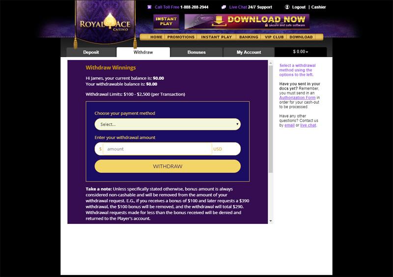 Exclusive Royal Ace Casino No Deposit Bonus Codes