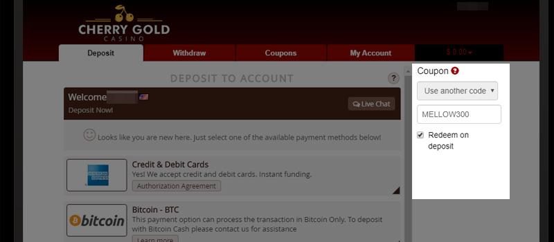 Cherry Gold Casino No Deposit Bonus And Welcome Bonuses Jul 2020