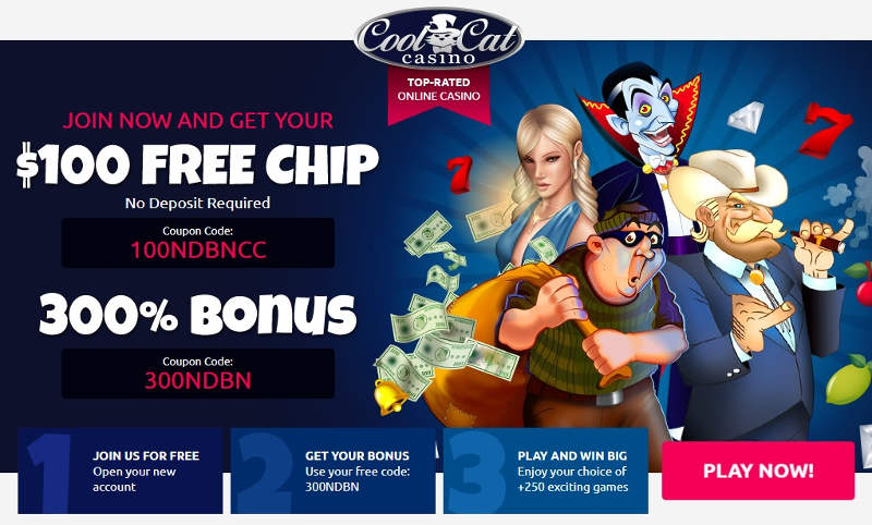 Cool Cat Casino Bonus Codes 100 No Deposit Bonus Aug 2020